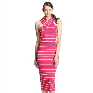 Ted Baker Canna Crossover Neck Striped dress 4